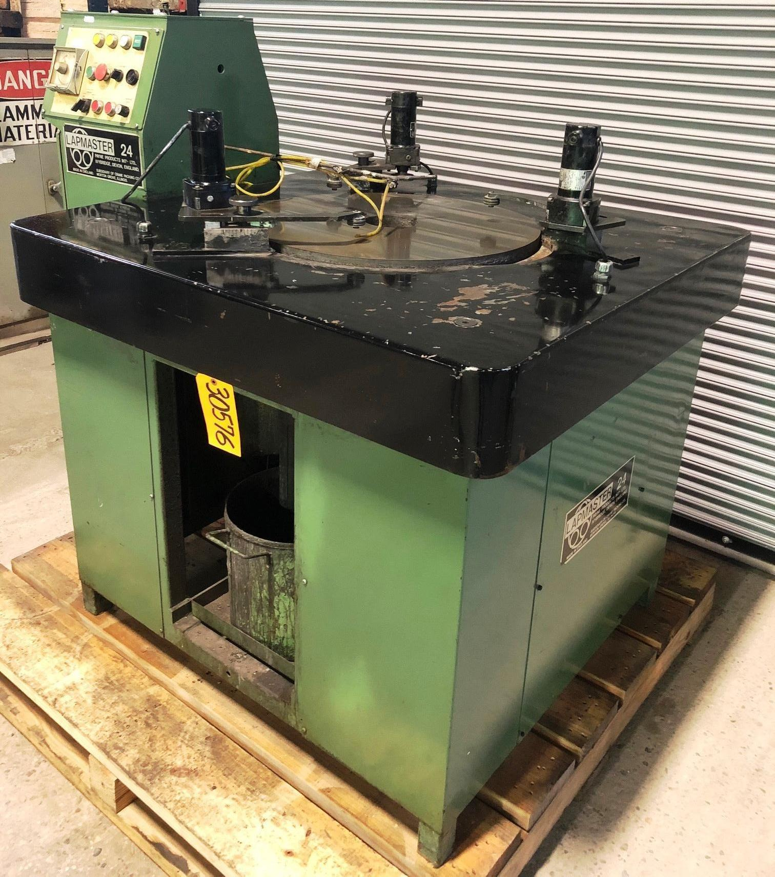 24″ Lapmaster Lapping Machine No. 24, (3) Rings, Open Face, Variable Speed, 2 HP