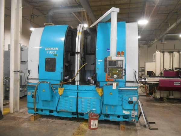 Doosan V550T CNC Twin Spindle Vertical Turning Center