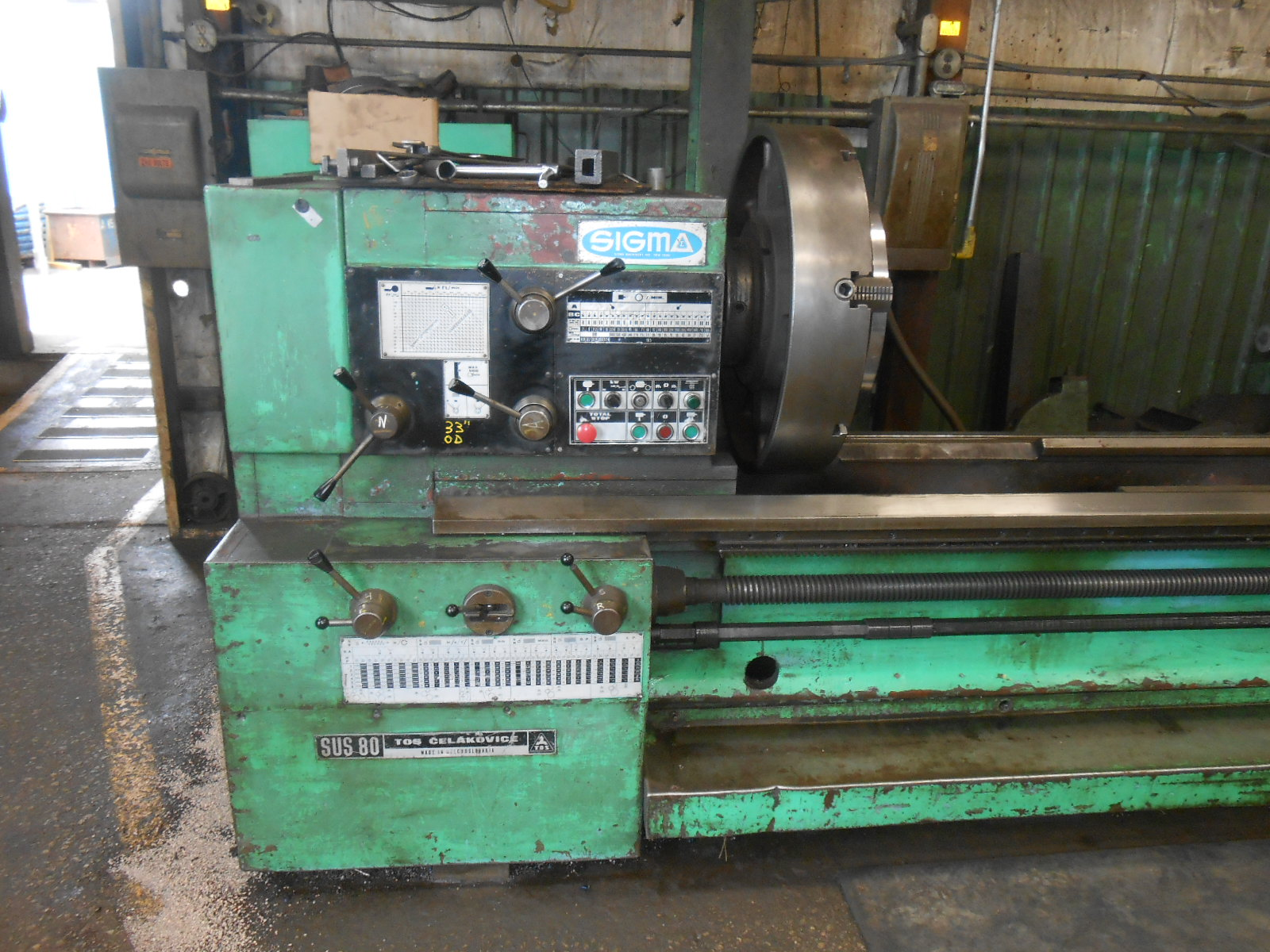 "33"" x 25' TOS SUS80x8000mm Engine Lathe"