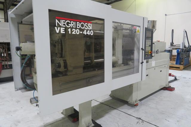 Negri Bossi Used VE-120 Electric Injection Molding Machine, 132 US ton, Yr. 2004, 210 g/7.4 oz.