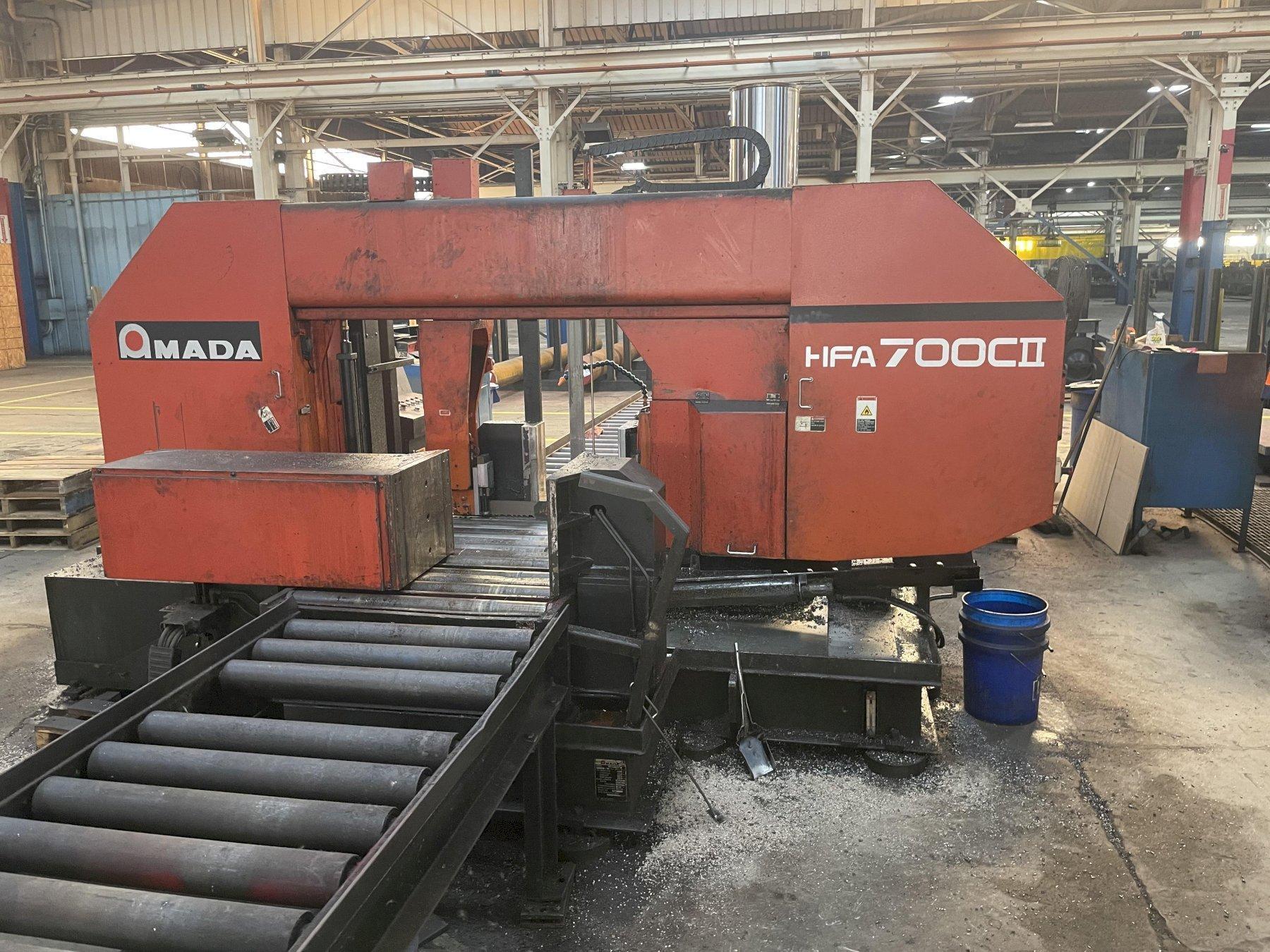 Amada HFA700CII Horizontal Fully Automatic Metal Cutting Band Saw
