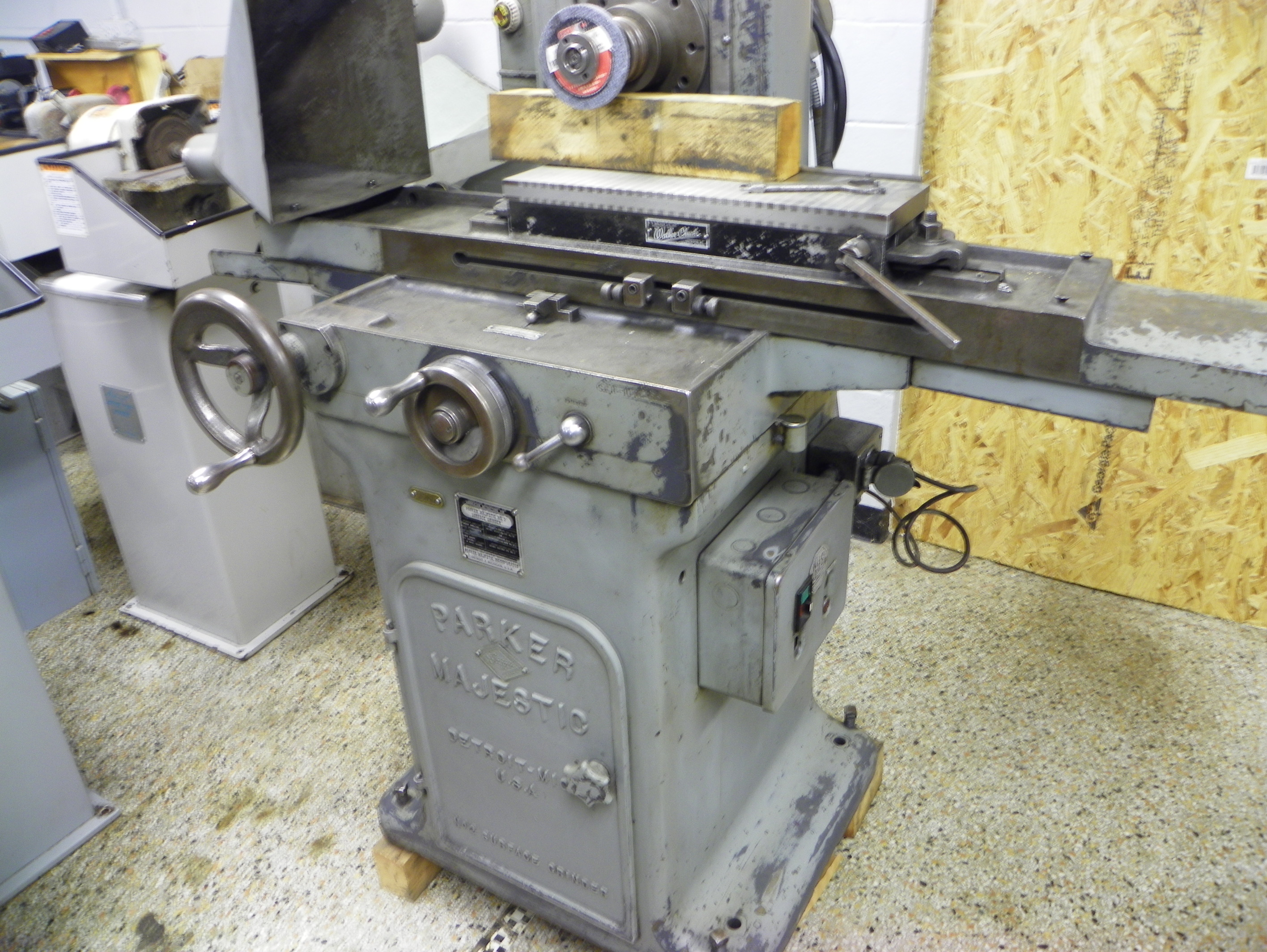 Parker-Majestic No. 2 Hand Feed Surface Grinder, S/N 1016-SC-57, New 1957.