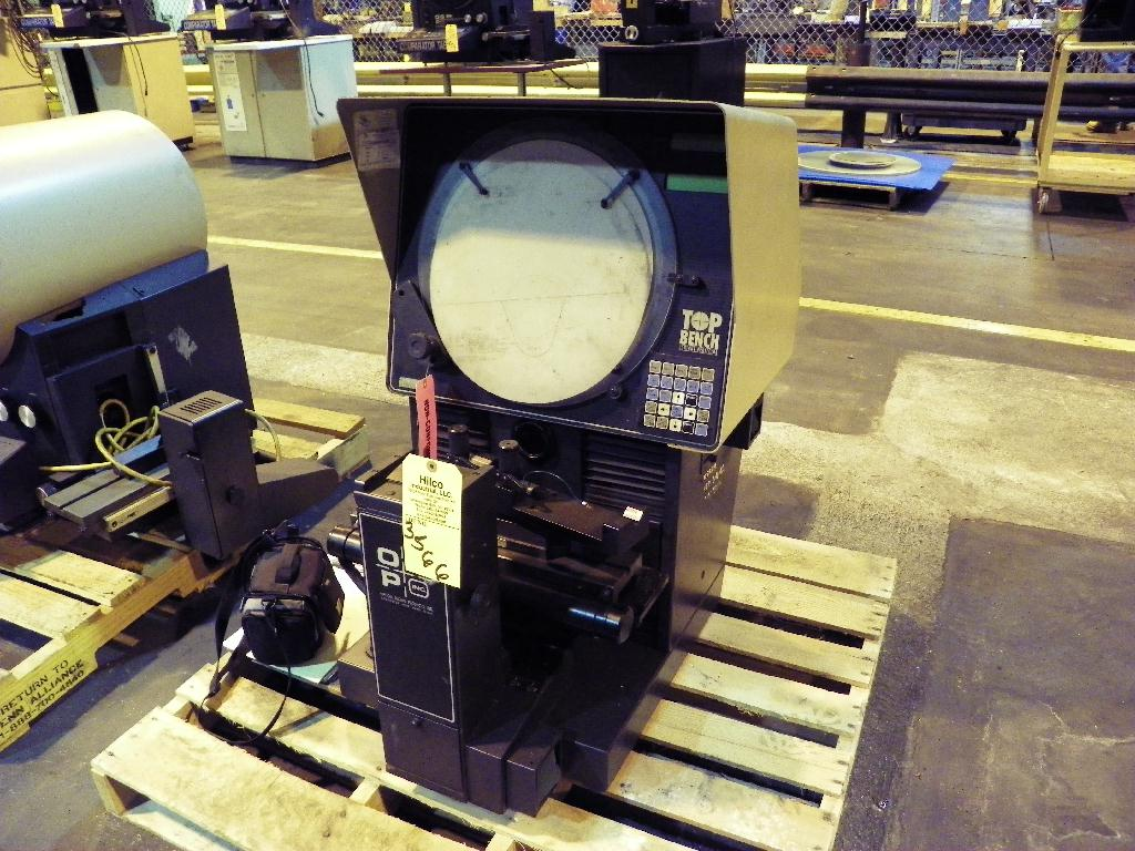 """14"""" OGP (Optical Gaging Products) Top Bench Optical Comparator S/N TB08061428. Parts machine , ask for details."""