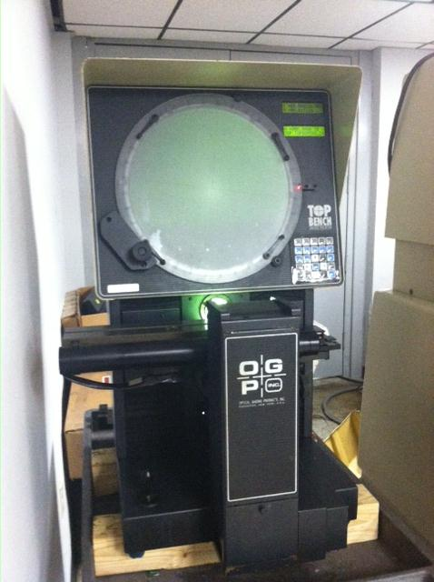 "14"" OGP (Optical Gaging Products) Top Bench Optical Comparator S/N TB08061428. Parts machine , ask for details."