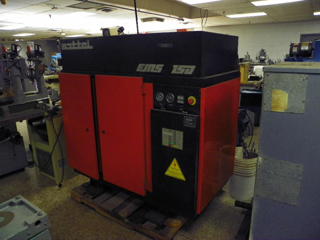 Mattei Model EMS-150 15 HP Rotary Screw Air Compressor