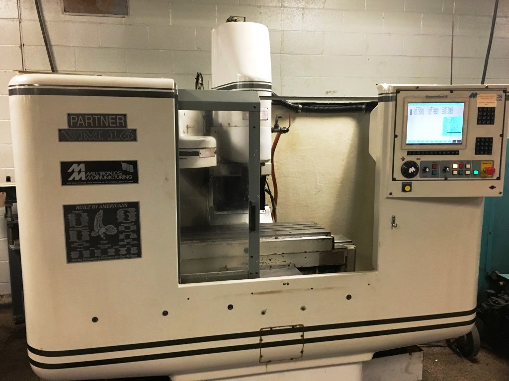 Milltronics Model VM16 CNC Vertical Machining Center, S/N 4278, New 1997.