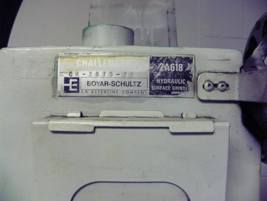 Boyar Schultz Challenger 2A 6x18 Surface Grinder, S/N CH-2875-2A.