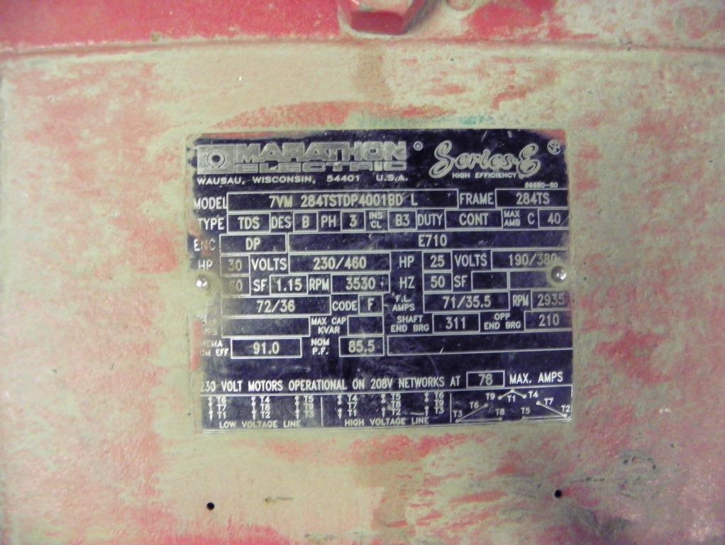 BELL & GOSSETT 30 HP SERIES 1510 BASE MOUNTED END SUCTION PUMP