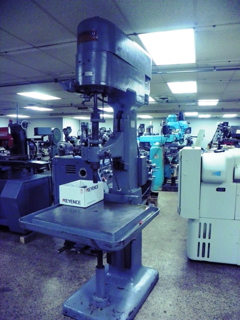 "30"" Edlund 2F-15 Single Spindle Box Column Variable Speed Drill Press, S/N 2F198, New 1950s."