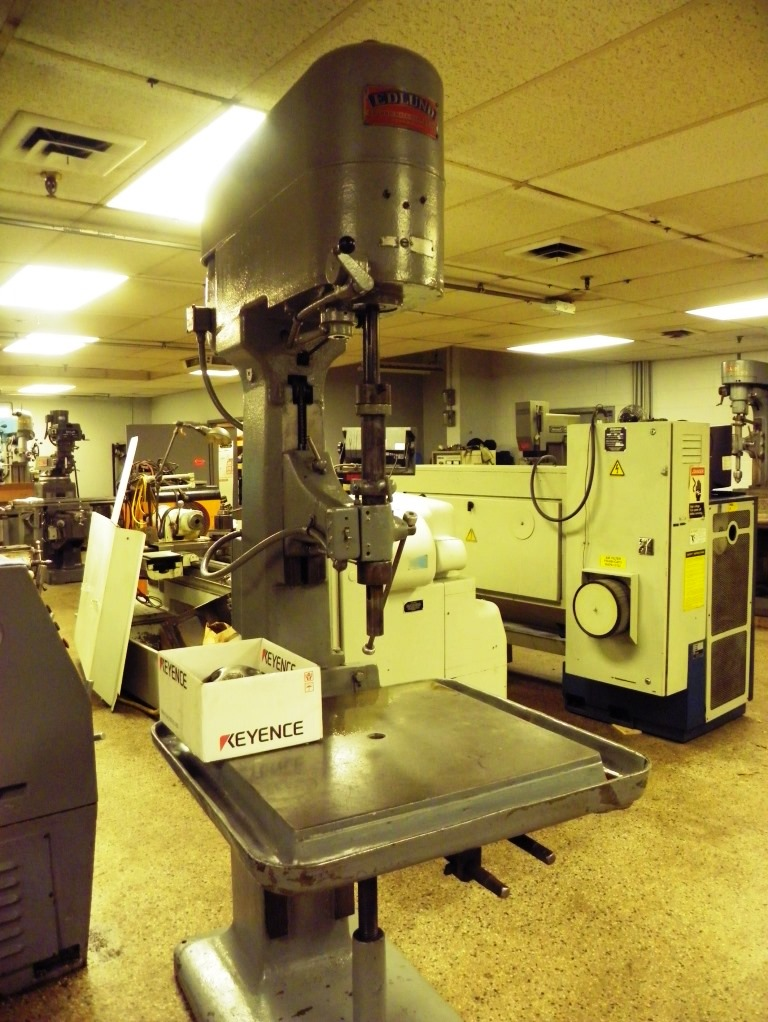 """30"""" Edlund 2F-15 Single Spindle Box Column Variable Speed Drill Press, S/N 2F198, New 1950s."""