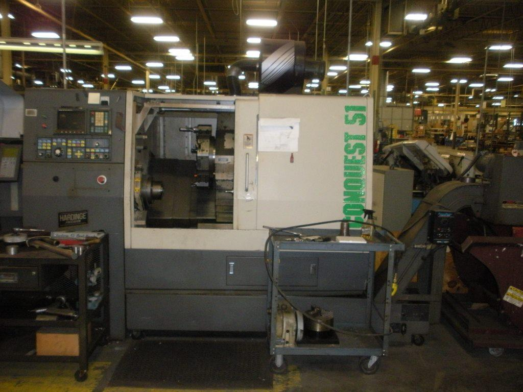 Hardinge Conquest T51 CNC Turning Center, S/N CL-186-CBB, New 1993.