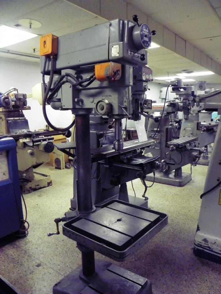 """20"""" CLAUSING Model 2276 Single Spindle Variable Speed Round Column Drill Press, S/N 506160."""