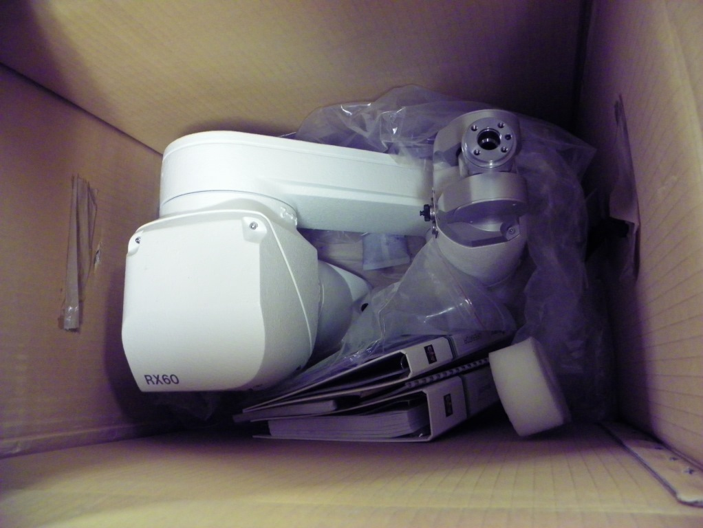 Staubli Model RX60 Robot with CS7B Control, Manufacture Date 2000, Unit is in unused condition.