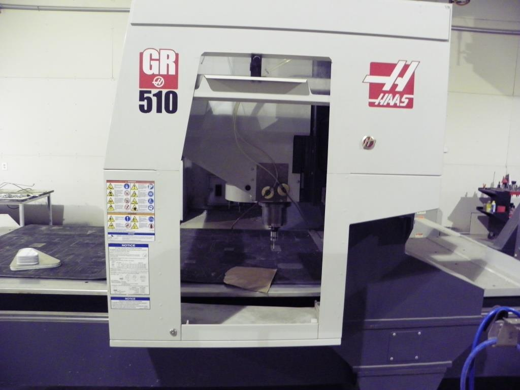 HAAS Model GR510 CNC Gantry Router, New 12/2014. Only 392 cutting hours.
