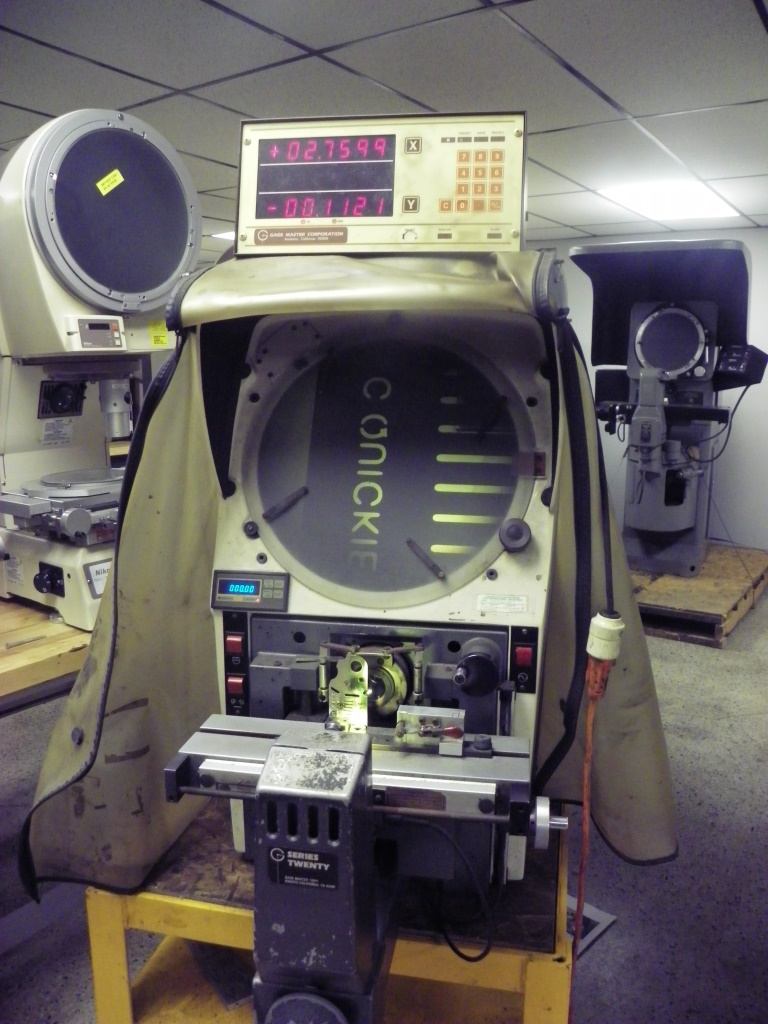 Gagemaster Model 29/GM5 Bench Top Optical Comparator, S/N 1445381287, New Approx 1988.