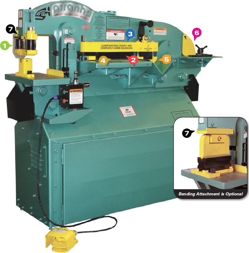 NEW PIRANHA P65 HYDRAULIC IRONWORKER