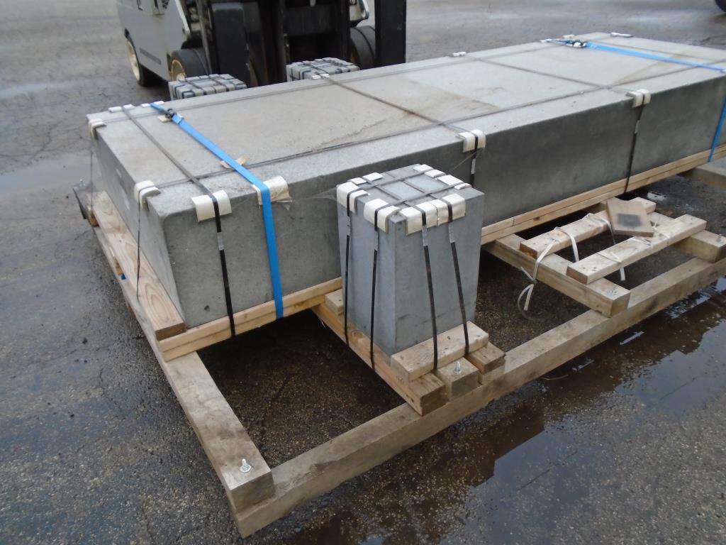 """Tru-Stone 130"""" x 48"""" x 15"""" Granite Surface Plate, Grade A, S/N 27240."""