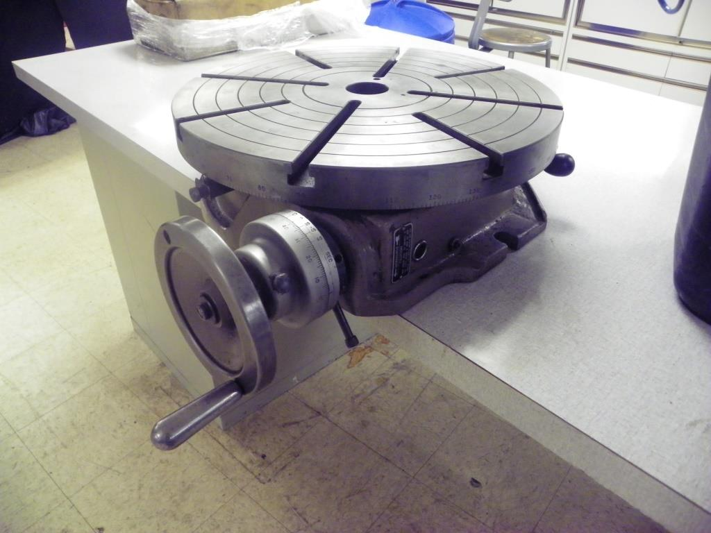 "18"" TROYKE Model T18 Horizontal Mount Rotary Table"