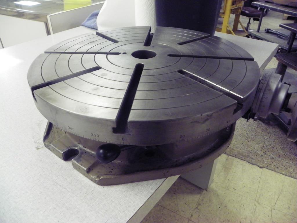 "18"" TROYKE Model T18 Horizontal Mount Rotary Table"