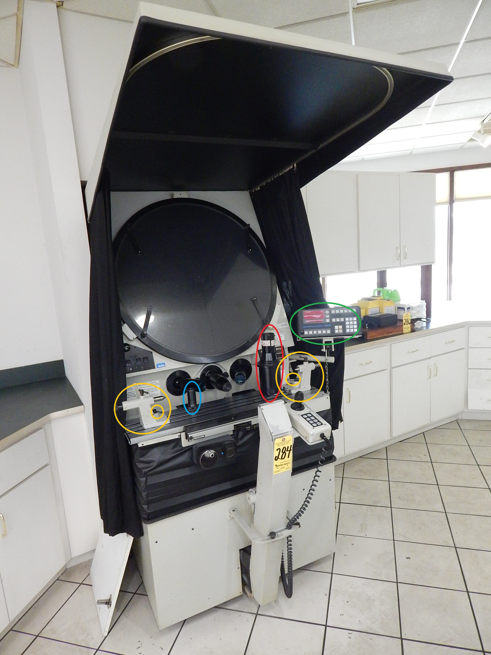 """30"""" Rank Precision / ST Industries Model 22-2600 Optical Comparator, S/N T864008, New 1986."""