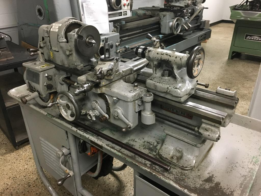 "10"" South Bend Quick Change Gear Lathe, S/N 133731, New 1943."