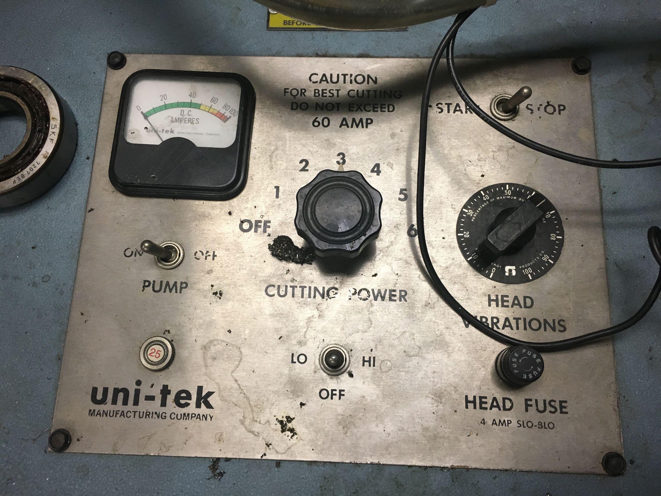 Uni-Tek Tap Burner/Disentegrator, Model 100-D, S/N 073030.