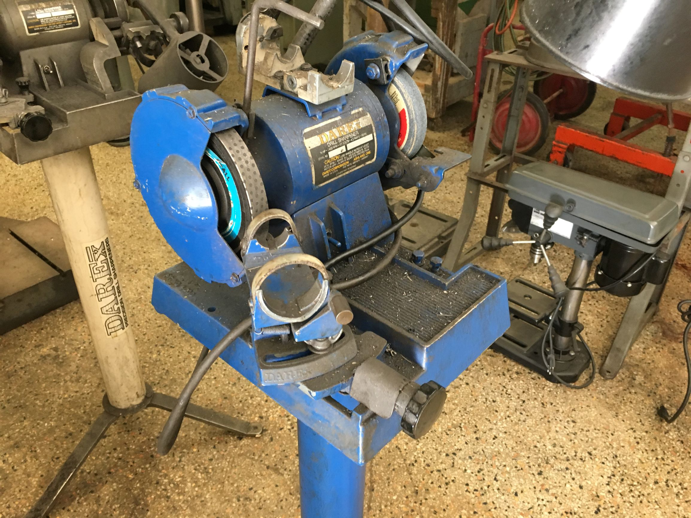 Darex 1/3 HP Drill Sharpener, S/N 53126.