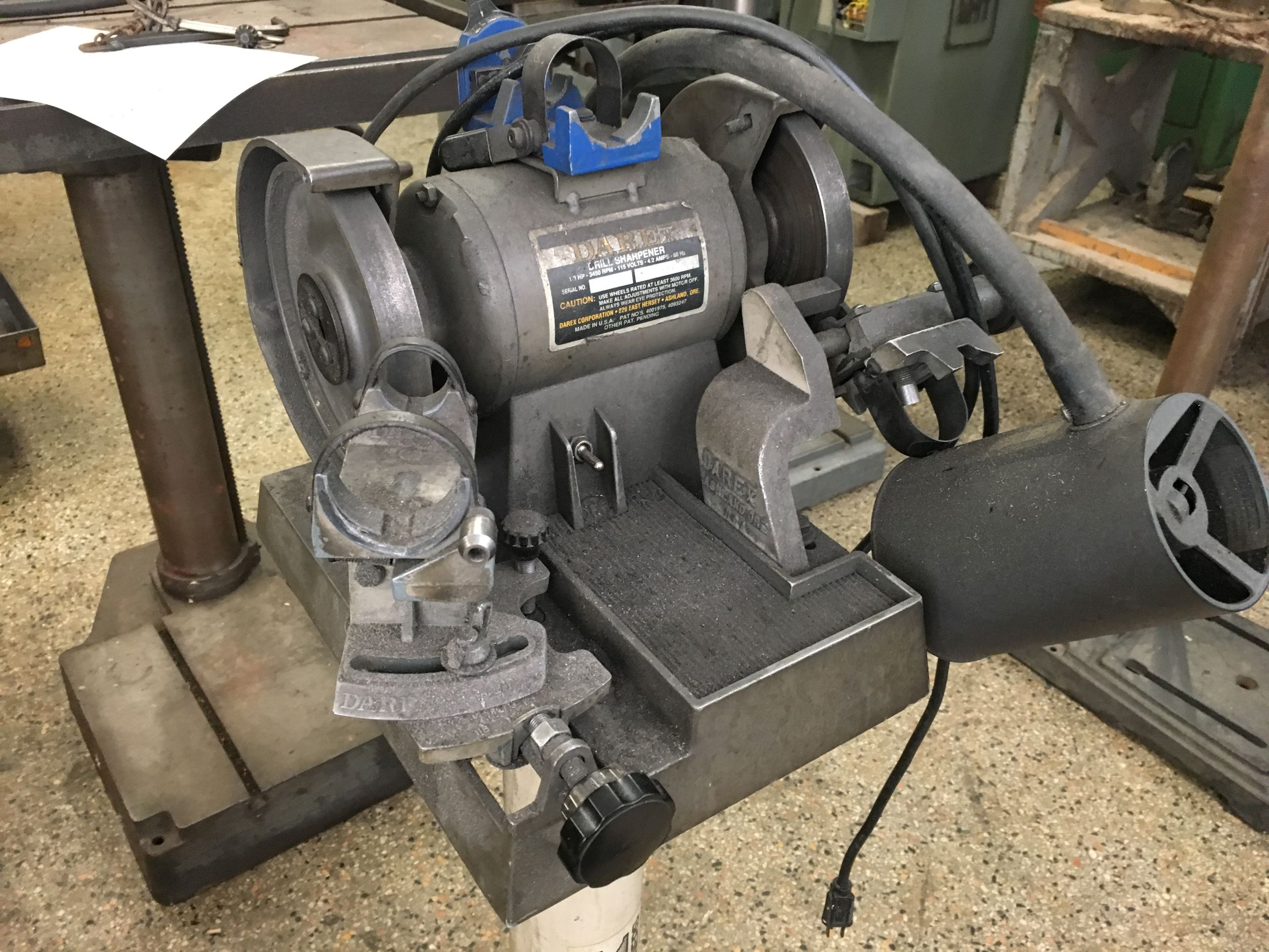 Darex 1/3 HP Drill Sharpener, S/N 534399CR.