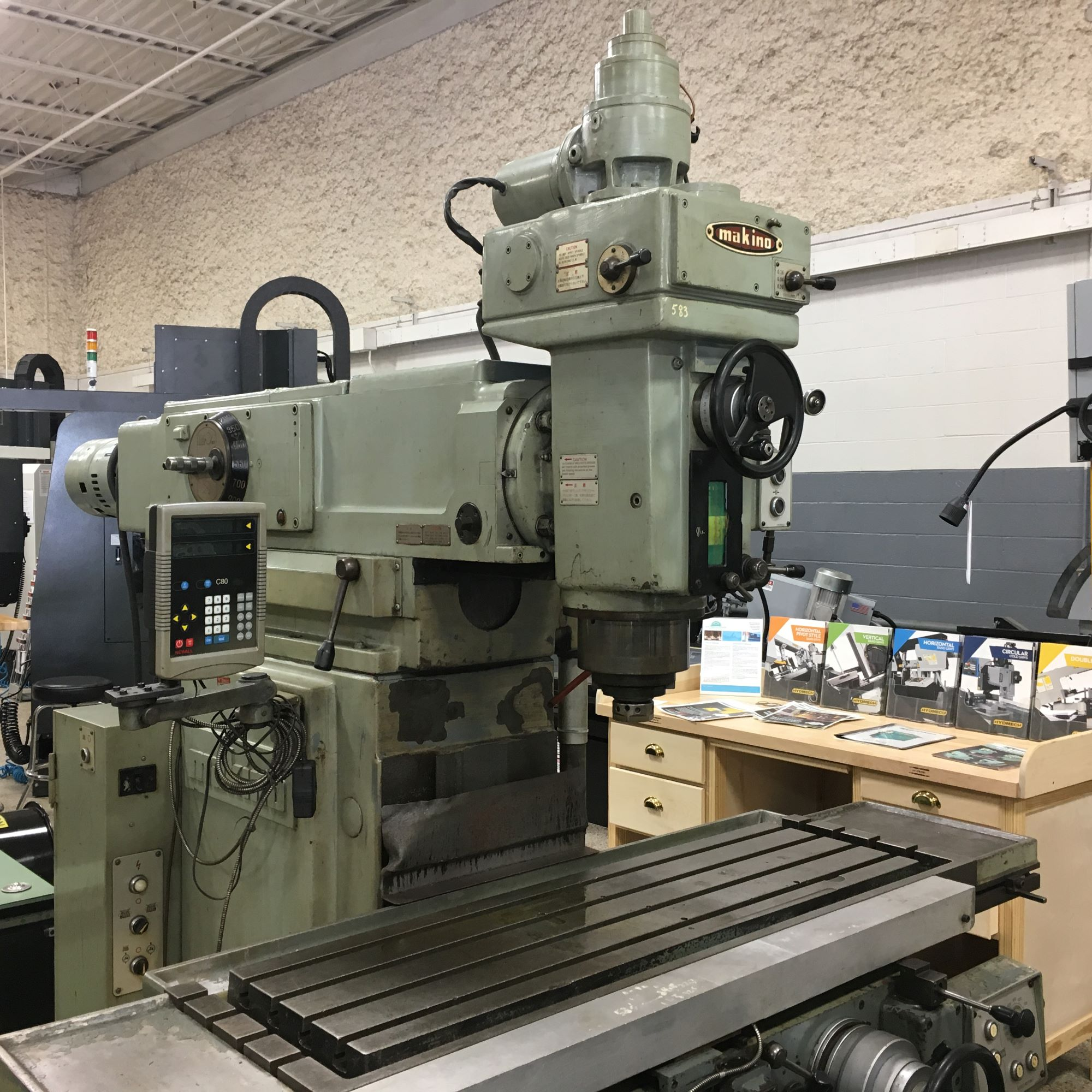 Makino Model BGIIJ-85 Vertical Mill,  s/n B62-1883. New 1987.