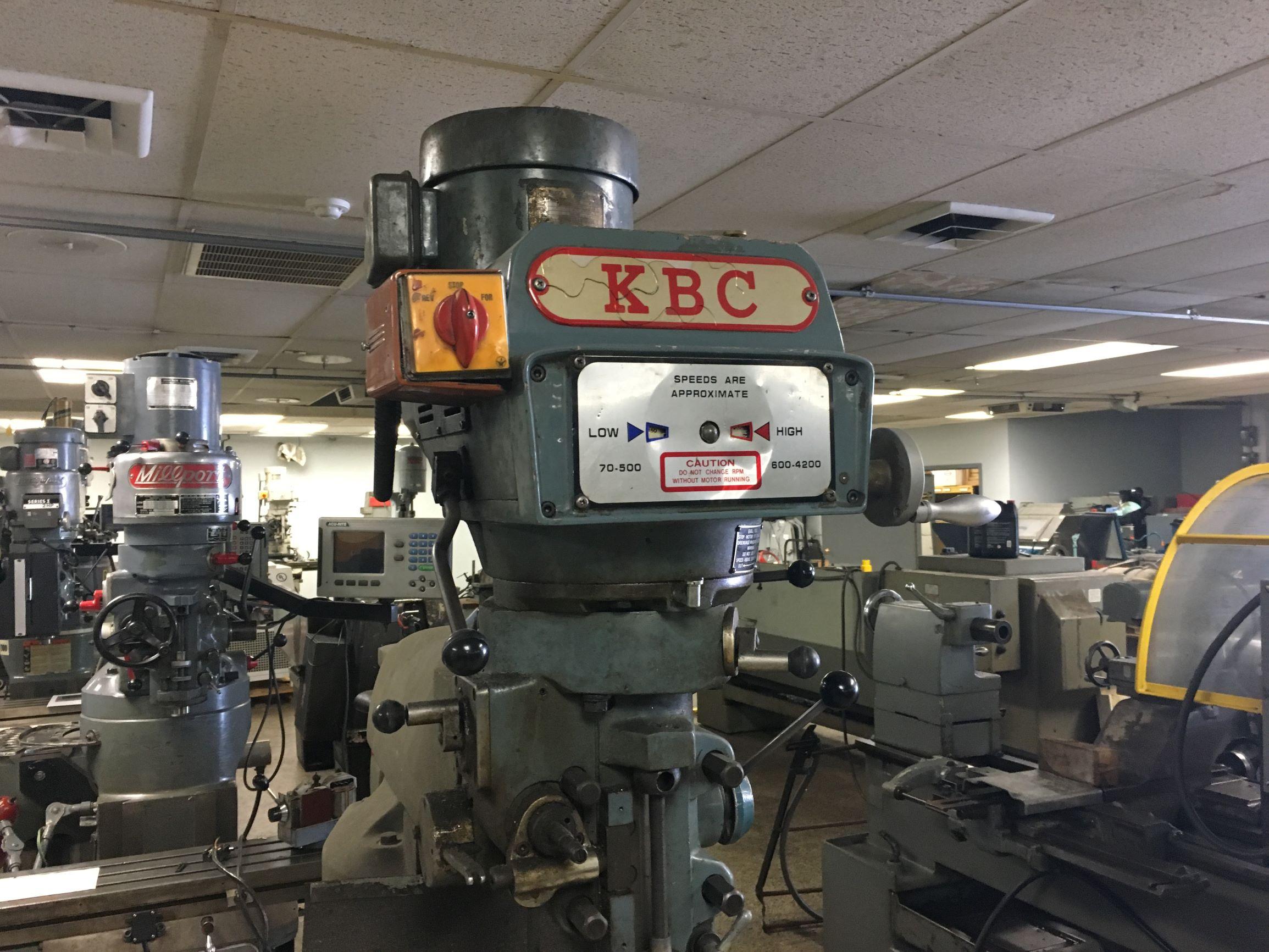 KBC Model TUM-1VS Vertical Milling Machine, S/N 0977 - for parts