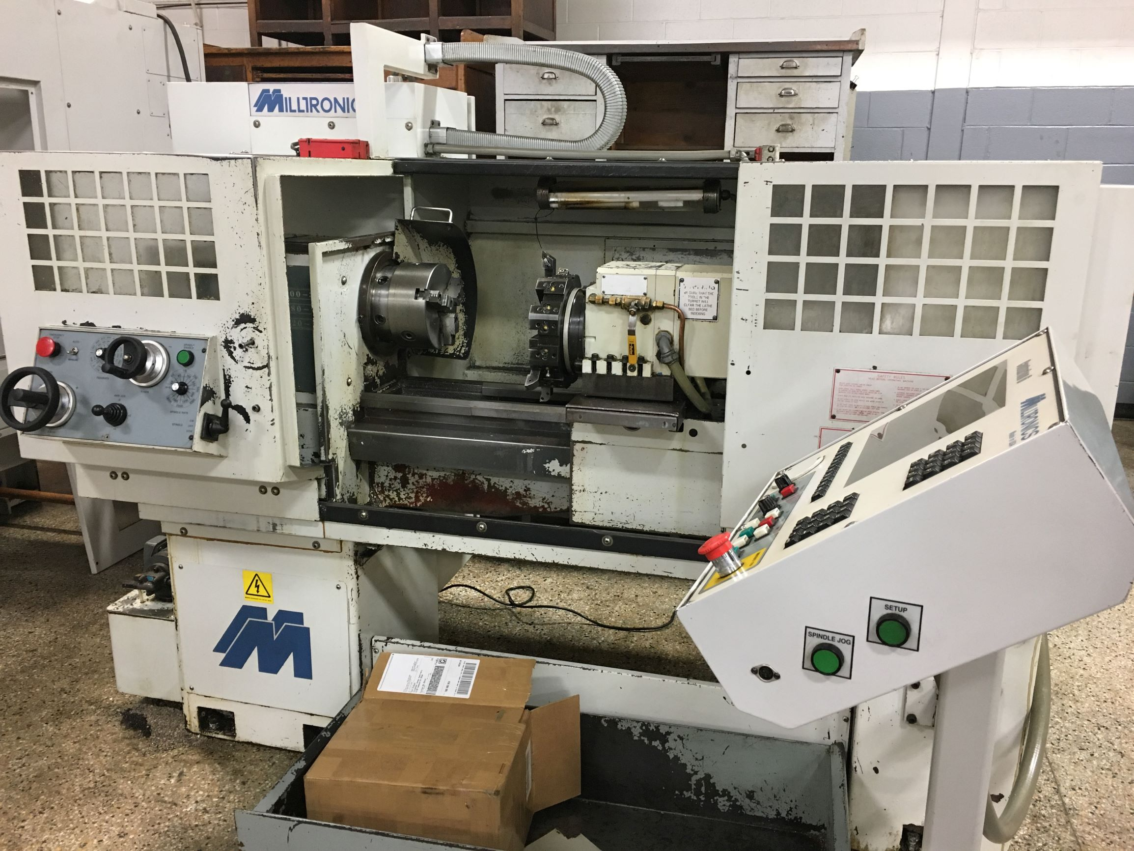 Milltronics ML15 CNC Lathe With Automatic Turret, S/N 6980, New 2001.