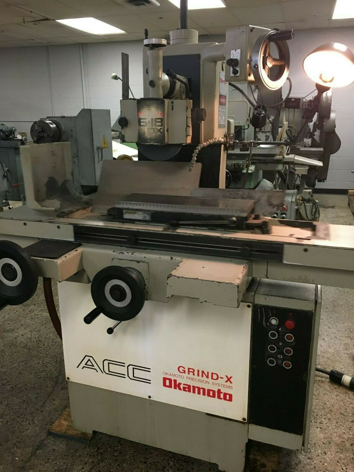 Okamoto ACC-6.18DX1 Precision Hydraulic Surface Grinder, S/N 41028.