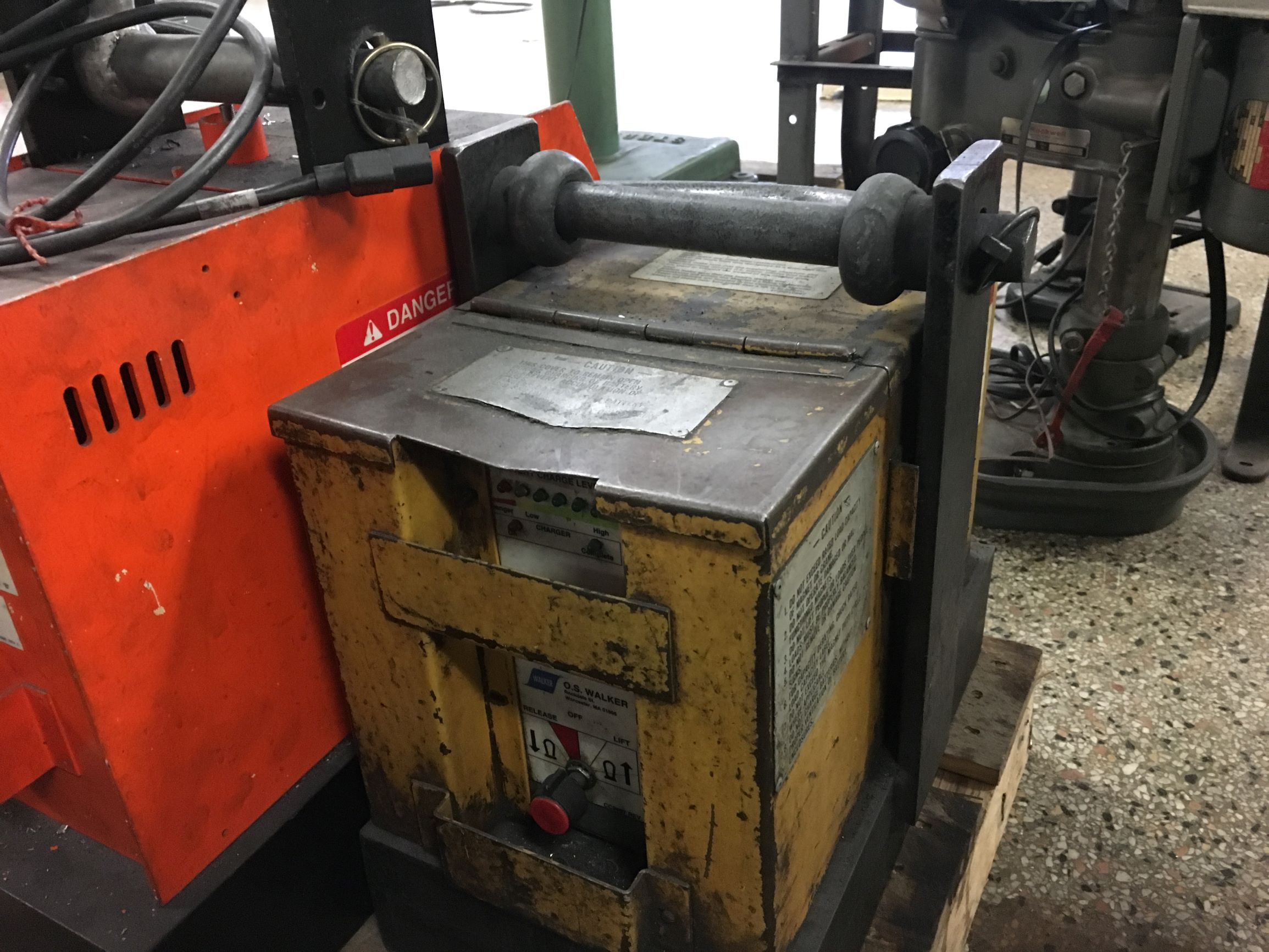 O.S. Walker Model BM55 Lifting Magnet, 5500 lbs. capacity