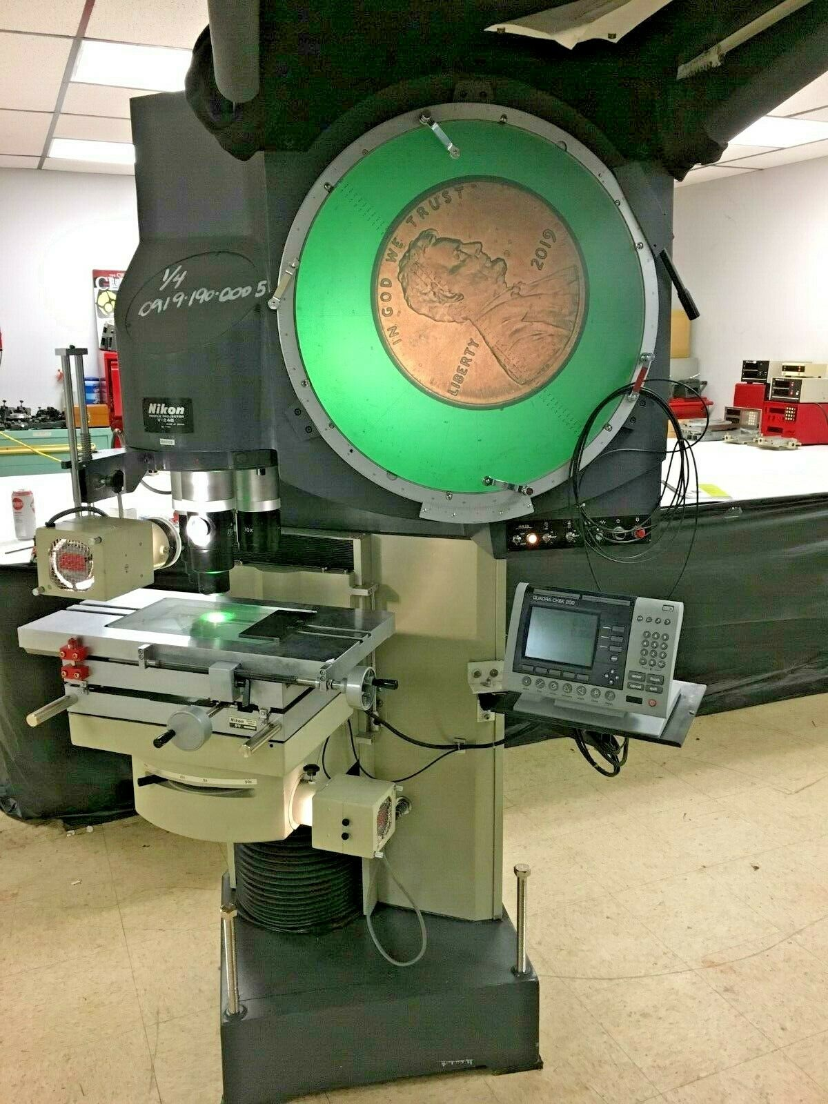"24"" NIKON Model V-24B Vertical Beam Floor Model Optical Comparator / Profile Projector, S/N 77201, New 2006."