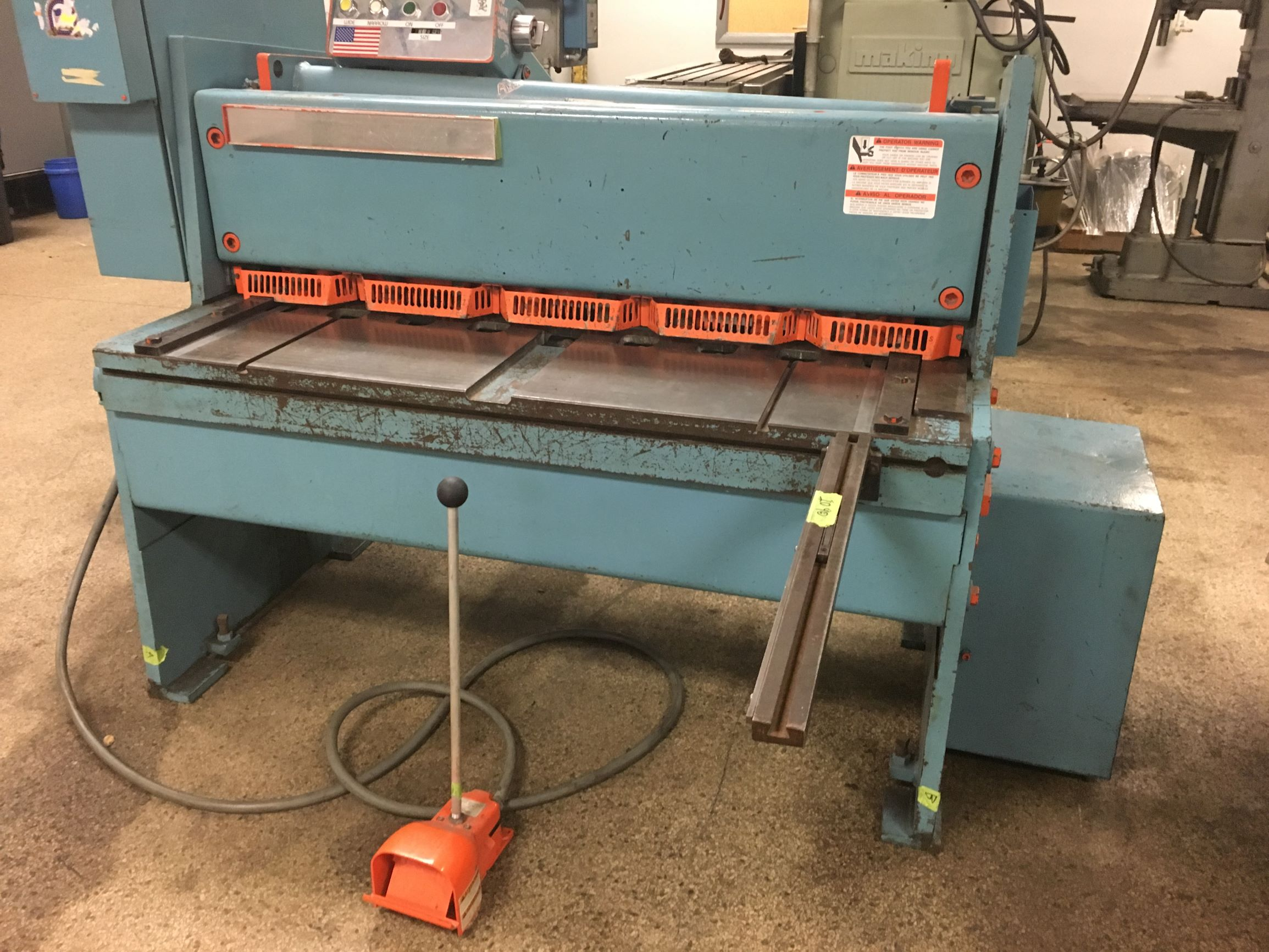 "Niagara Model 1R-4 10 ga x 48"" Mechanical Power Shear, S/N 64513."
