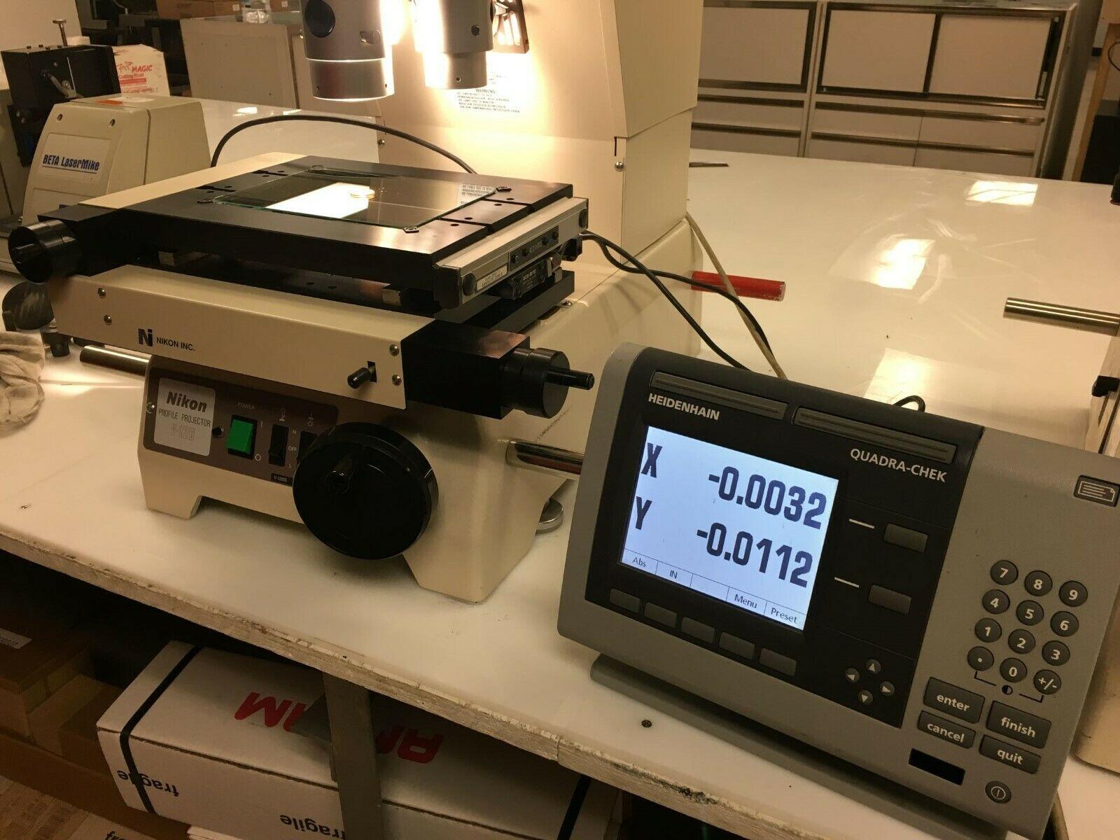 "12"" Nikon Model V-12BS Bench Top Comparator / Profile Projector, S/N 1300028."
