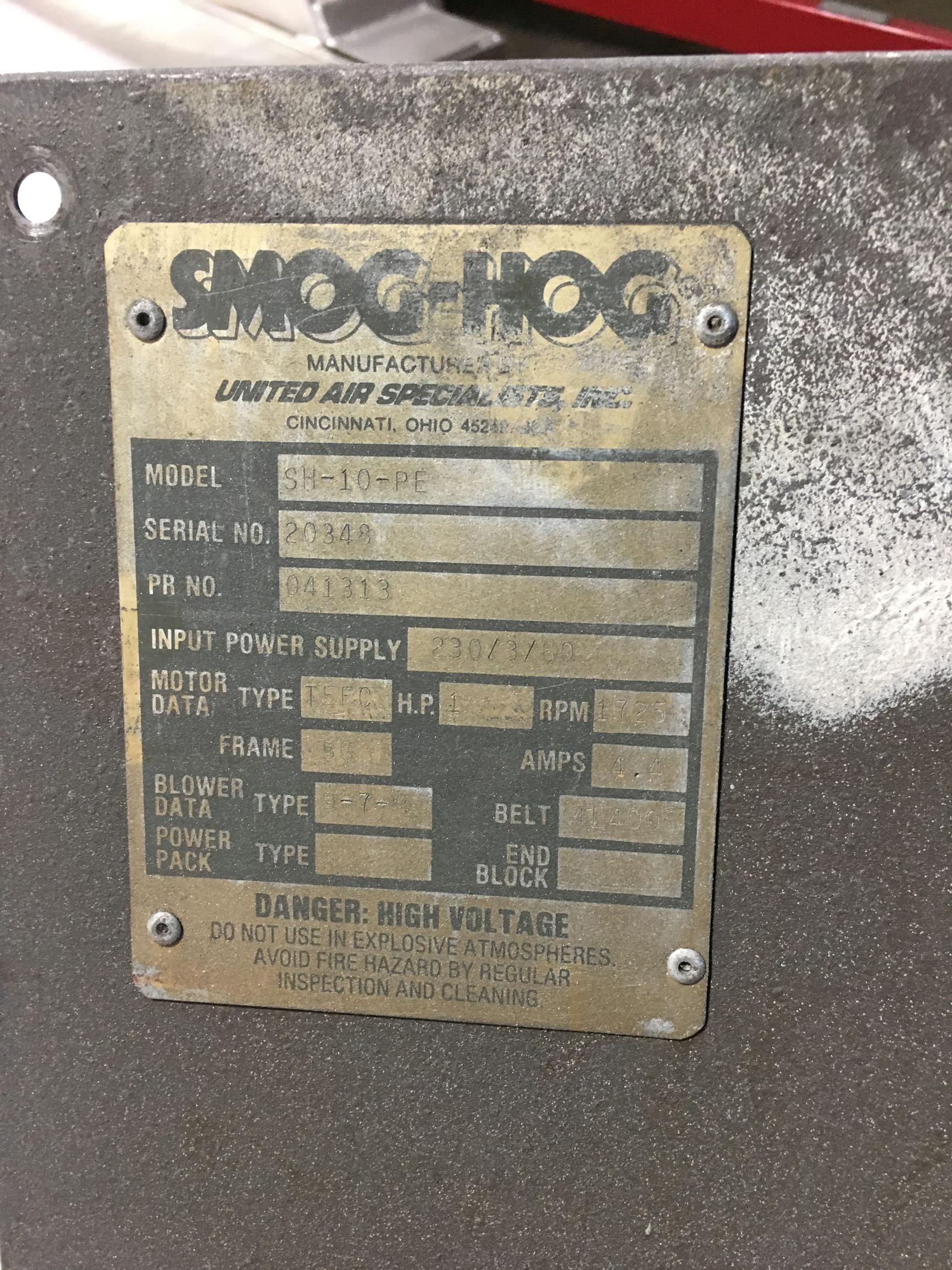 Smog Hog Model SH-10-PE Industrial Air Cleaner
