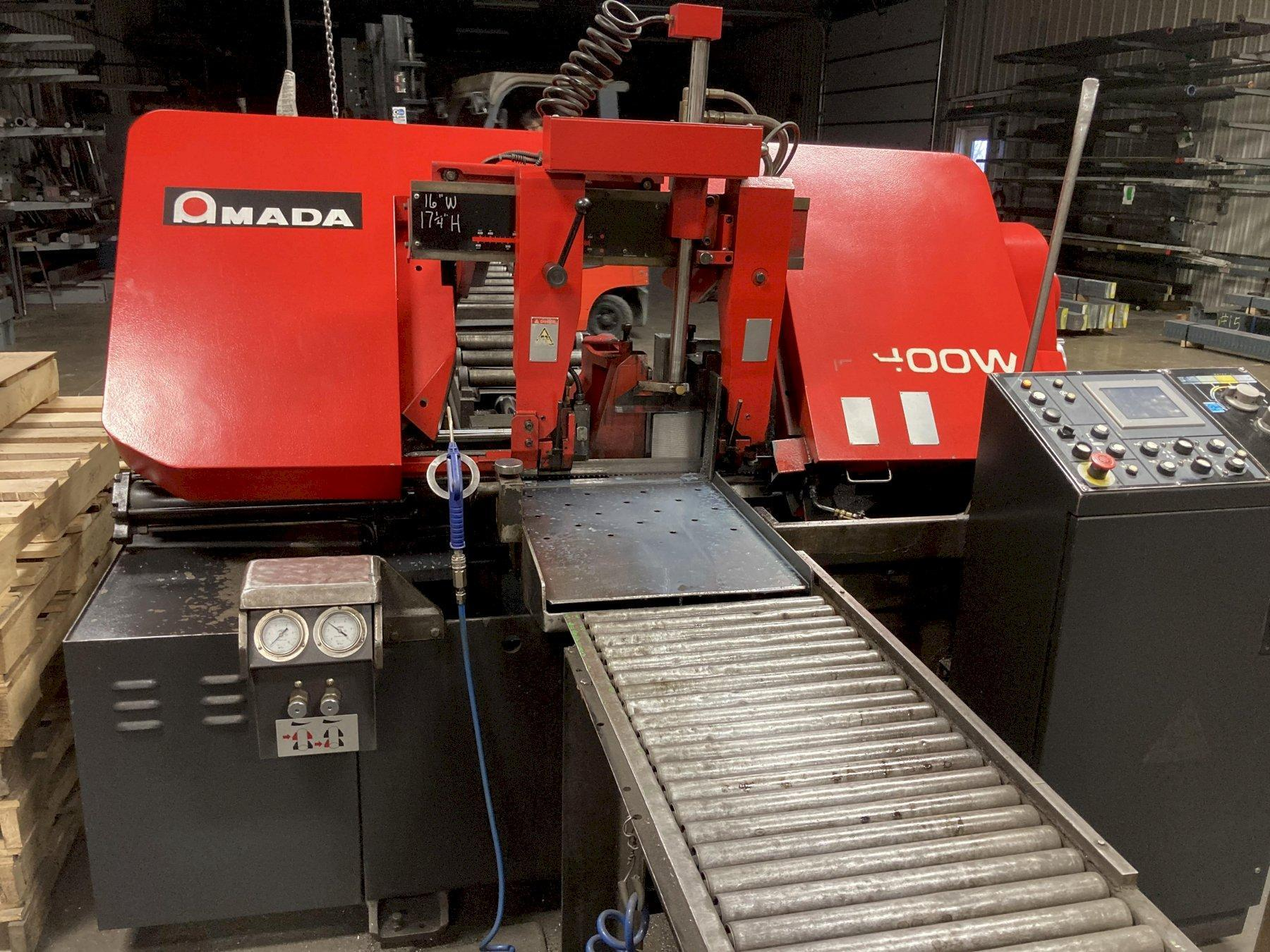 "16"" x 16"" Amada Model HFA400W Programmable Automatic Band Saw"