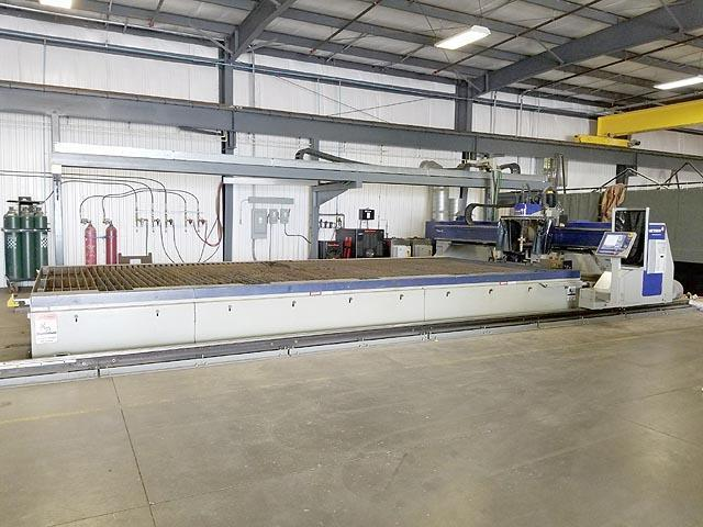 12' X 25' MESSER TITAN III HI-DEFINITION 5-AXIS PLASMA CUTTER, Messer CNC Control, 80-400 Amp Hypertherm Power Supply, Downdraft Table, 2-Axis Touch Head, New 2014.