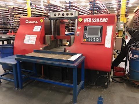 AMADA HFA-530 CNC HORIZONTAL BAND SAW STOCK#2193