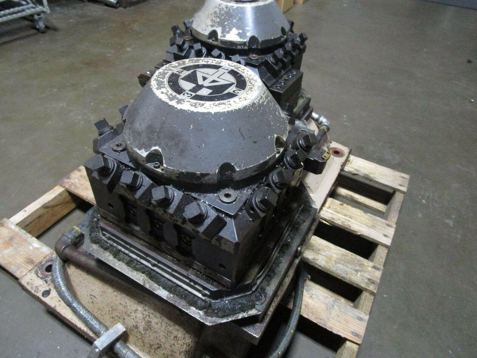 "4 Position Electric Turret for Lathe or VTL, Baruffaldi Heavy Duty 10-1/2"" Face"