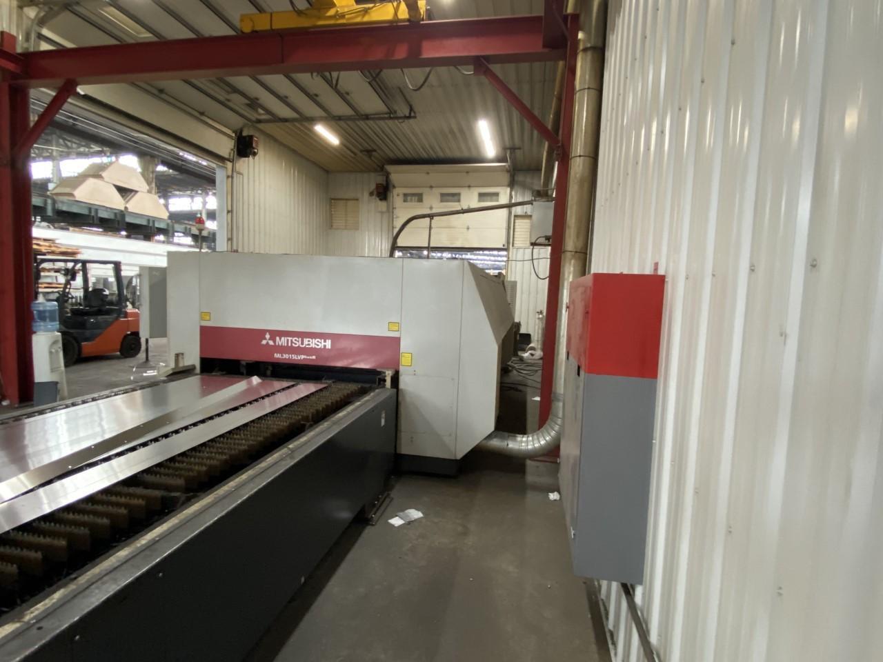 2011 Mitsubishi LVP3015, 5x10, 4500 Watt Co2 CNC Laser