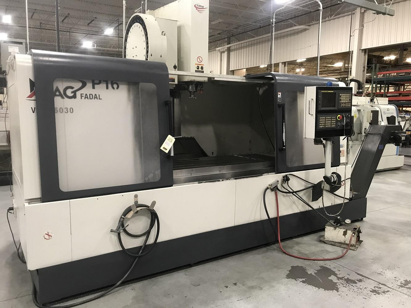 """Fadal 6030HT, Fanuc 18iMB, 60""""/30""""/30"""" Travels, 10K Spindle, CT40, 21 ATC, Coolant Thru Spindle, Rigid Tapping, Air/Oil Spindle, Chip Conveyor, Transformer, Handwheel, 2008"""