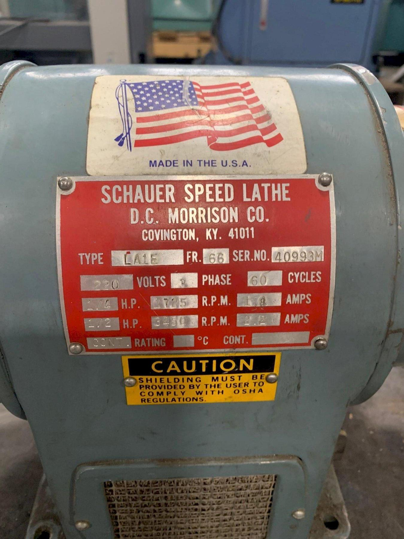 USED SCHAUER SPEED LATHE MODEL LA1E, Stock # 10820