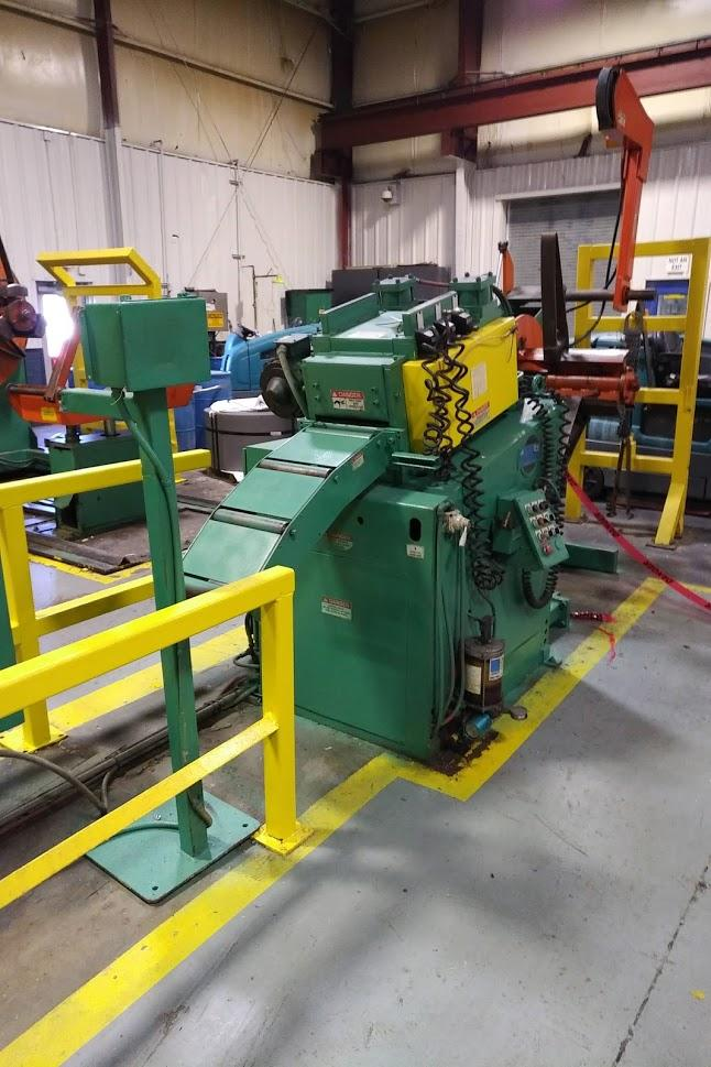 "(S) Coe Press Powered Coil Reel And Straightener Combination 8,000 Lbs. x 12"" Wide"