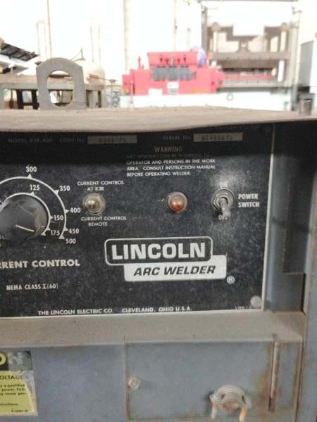 LINCOLN IDEALARC R3R-400 400 Amp Stick Welder, Lincoln R3R-400,  400 Amp, Constant Voltage DC Arc Welding Power Source for Stick Welding.