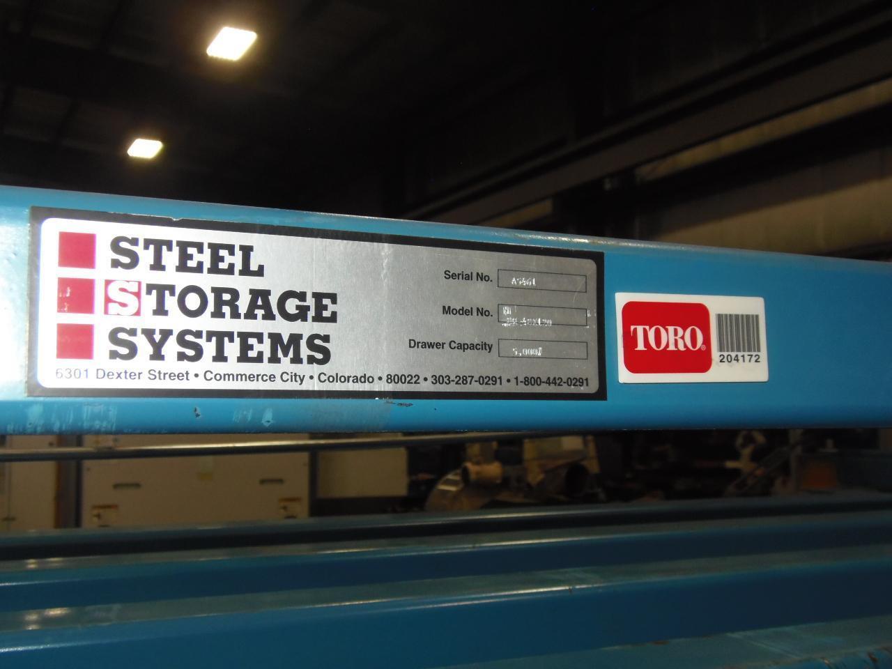 "48"" X 120"" STEEL STORAGE SYSTEMS 5 SHELF SHEET METAL RACK"