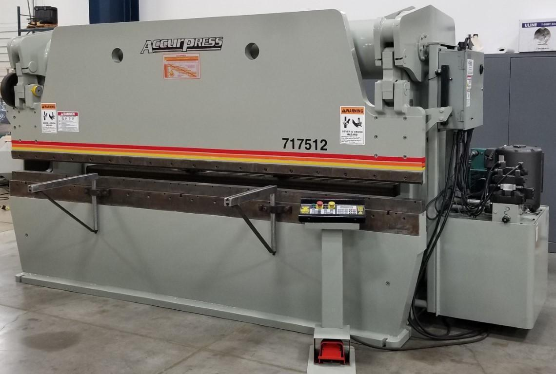 "175 ACCURPRESS CNC HYDRAULIC BRAKE PRESS, 12' OA, 124"" BTWH, 2 AXIS ACCURPRESS CNC CONTROL"