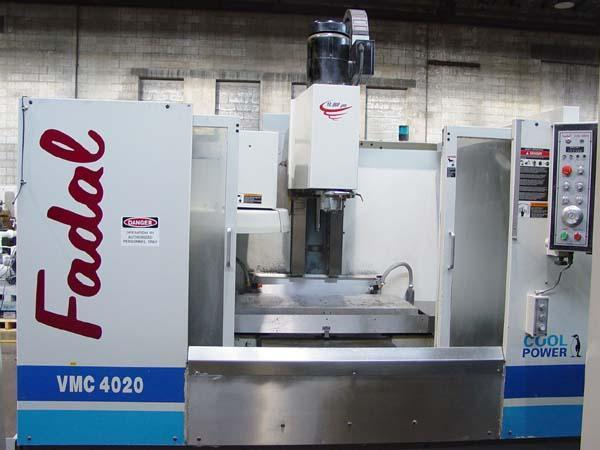 """FADAL 4020, Fadal 88HS CNC Control, X=40"""", Y=20"""",Z=20"""", 10,000 RPM, 15 HP, 30 Station Tool Changer, Thru Spindle Coolant, New 1999."""