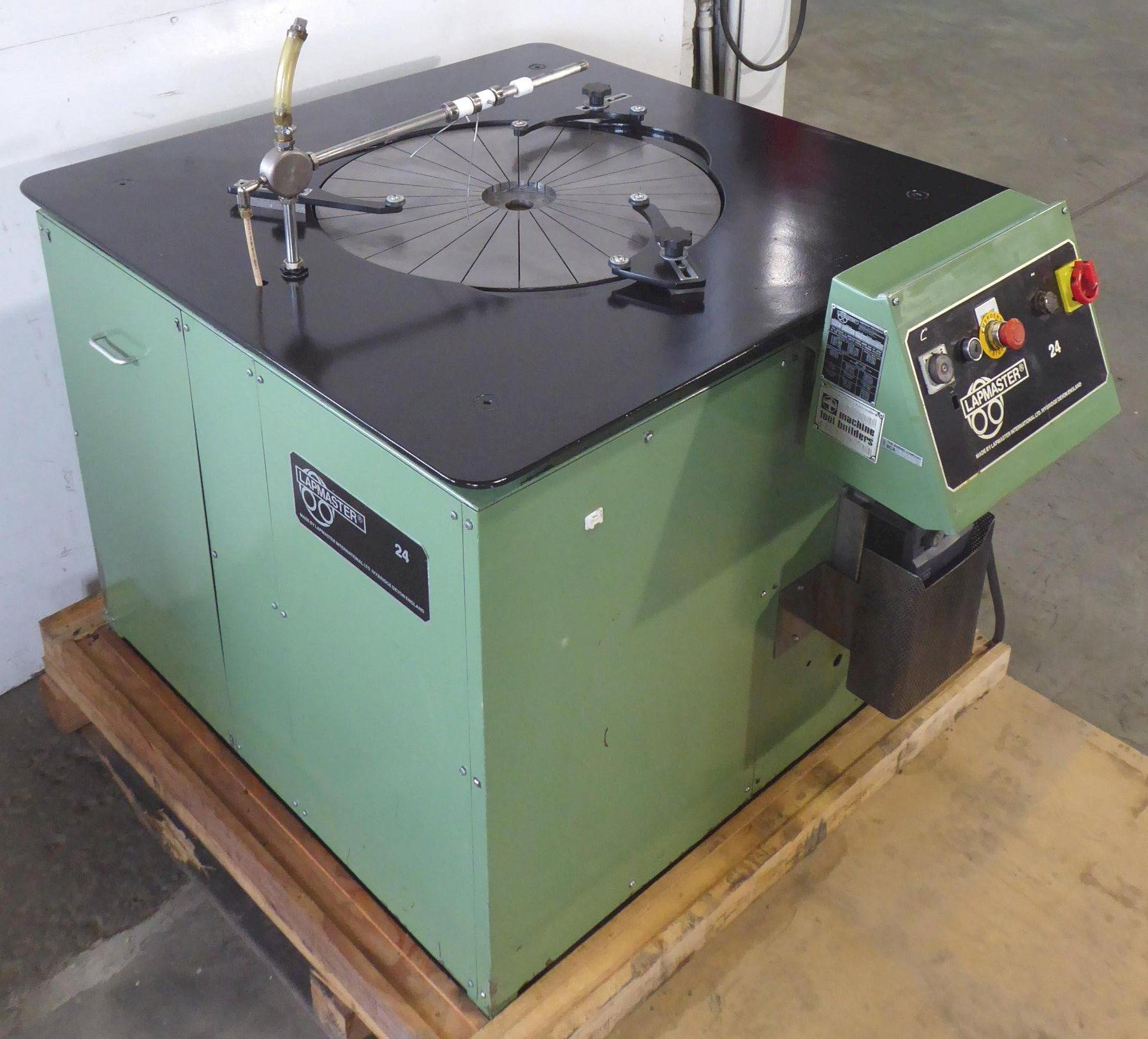 """24"""" Lapmaster Lapping Machine No. 24, (3) Rings, Open Face, 1990, Nice"""